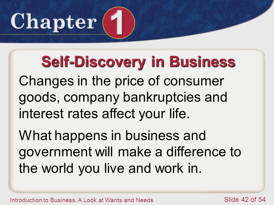 Self-Discovery in Business