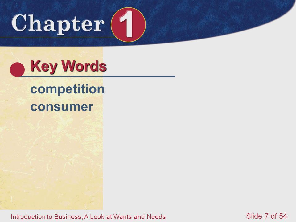 Key Words competition consumer