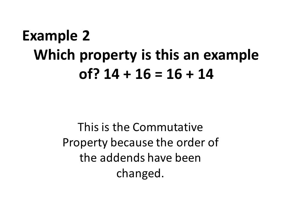 Which property is this an example of =