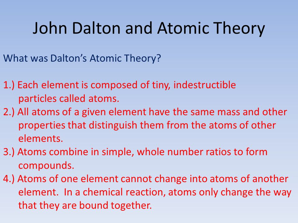 John Dalton and Atomic Theory