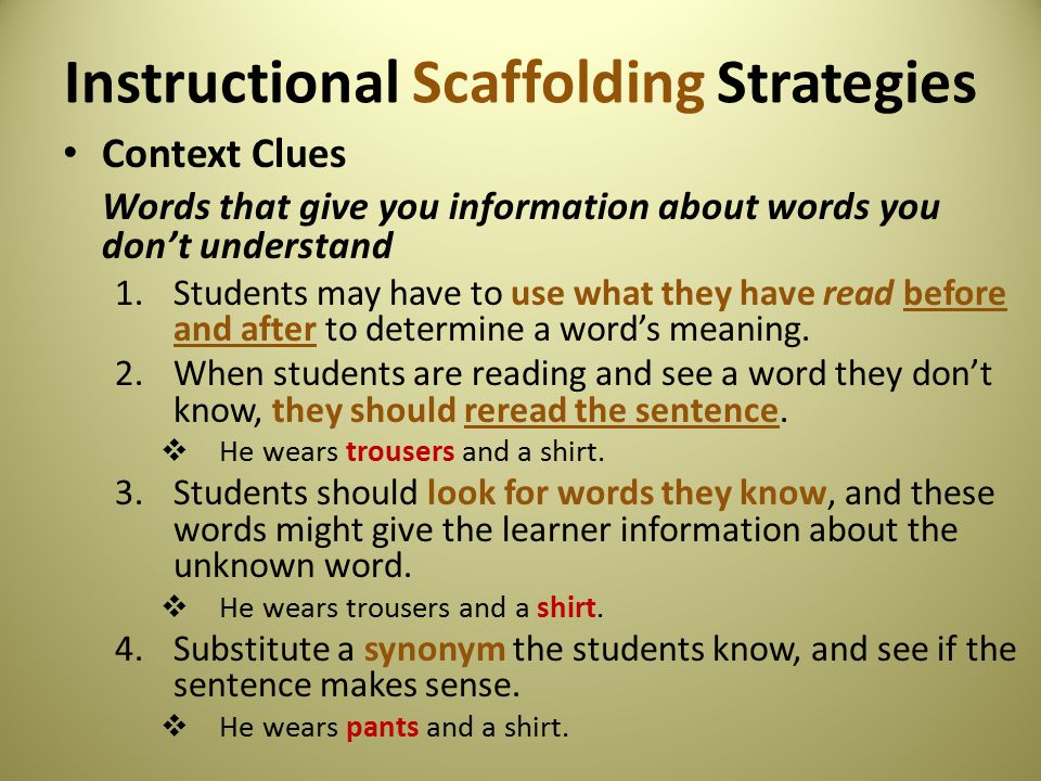 Scaffolding For The Efl Classroom Ppt Video Online Download