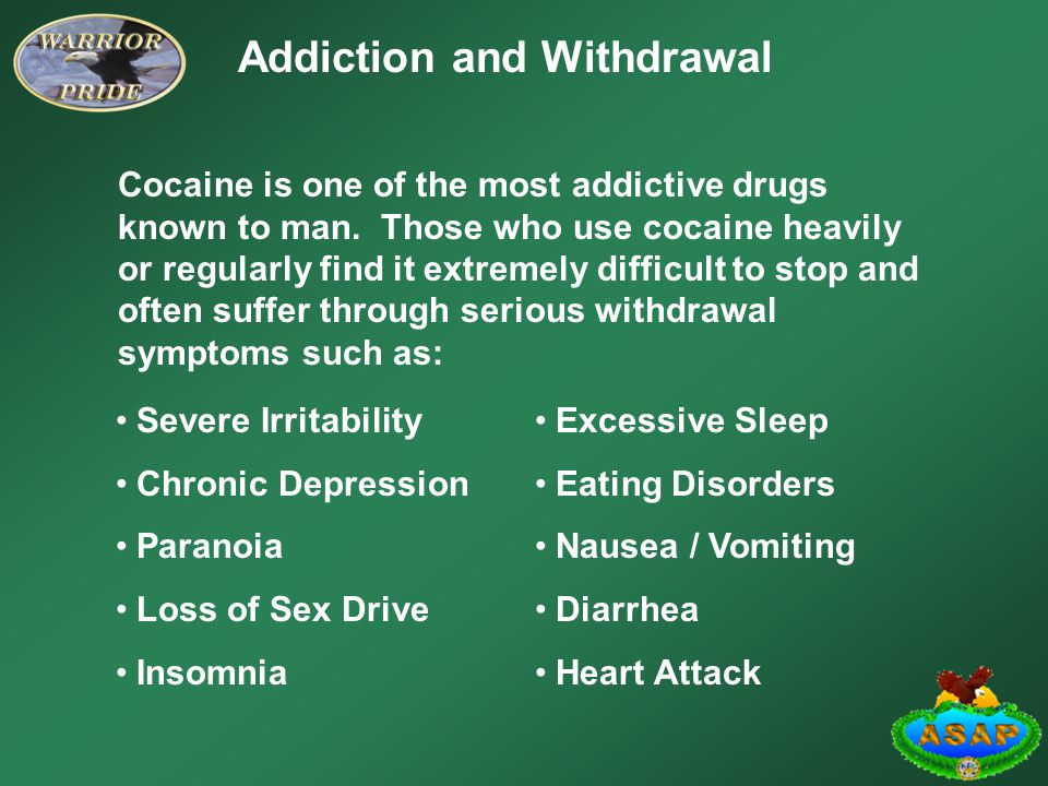 Addiction and Withdrawal