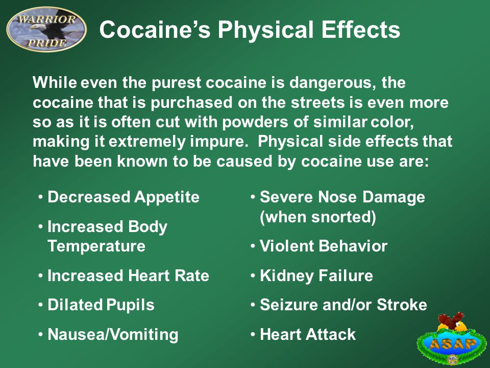 Cocaine's Physical Effects