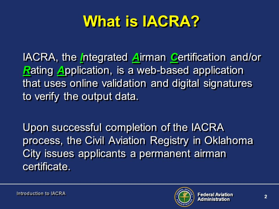 What is IACRA