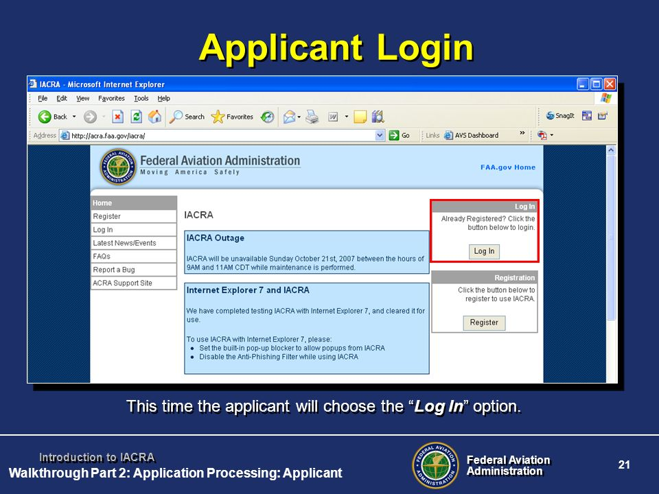 Walkthrough Part 2: Application Processing: Applicant
