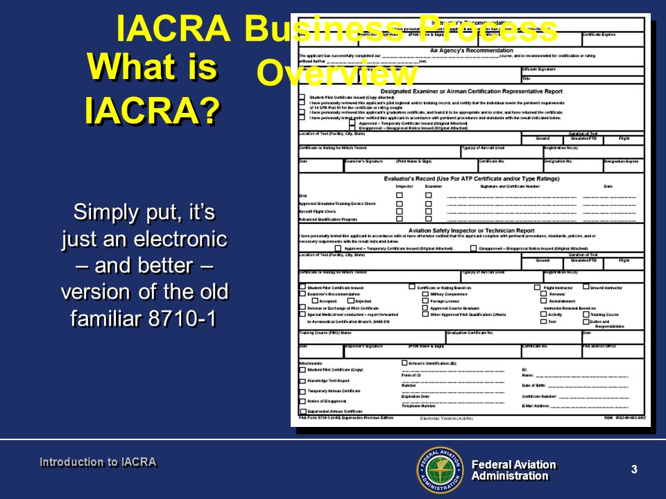 IACRA Business Process Overview