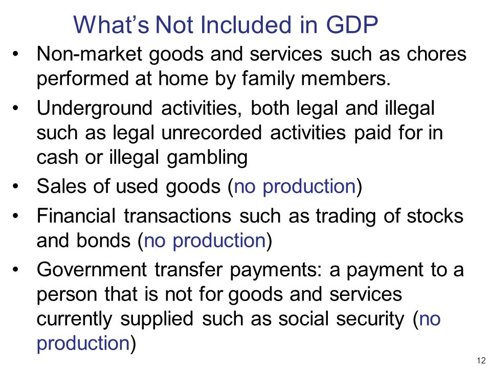 gdp as a perfect measure of The gdp (gross domestic product) is not considered to be a good measure of economic well-being by many because it only measures the sales and income from economic purchases rather than looking at any moral implications.
