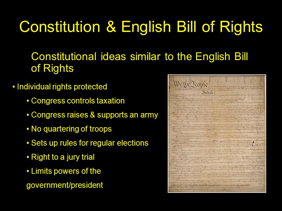 Origins of constitution ppt download constitution english bill of rights ccuart Image collections