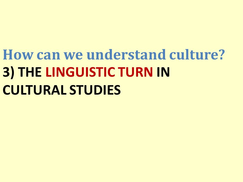How can we understand culture