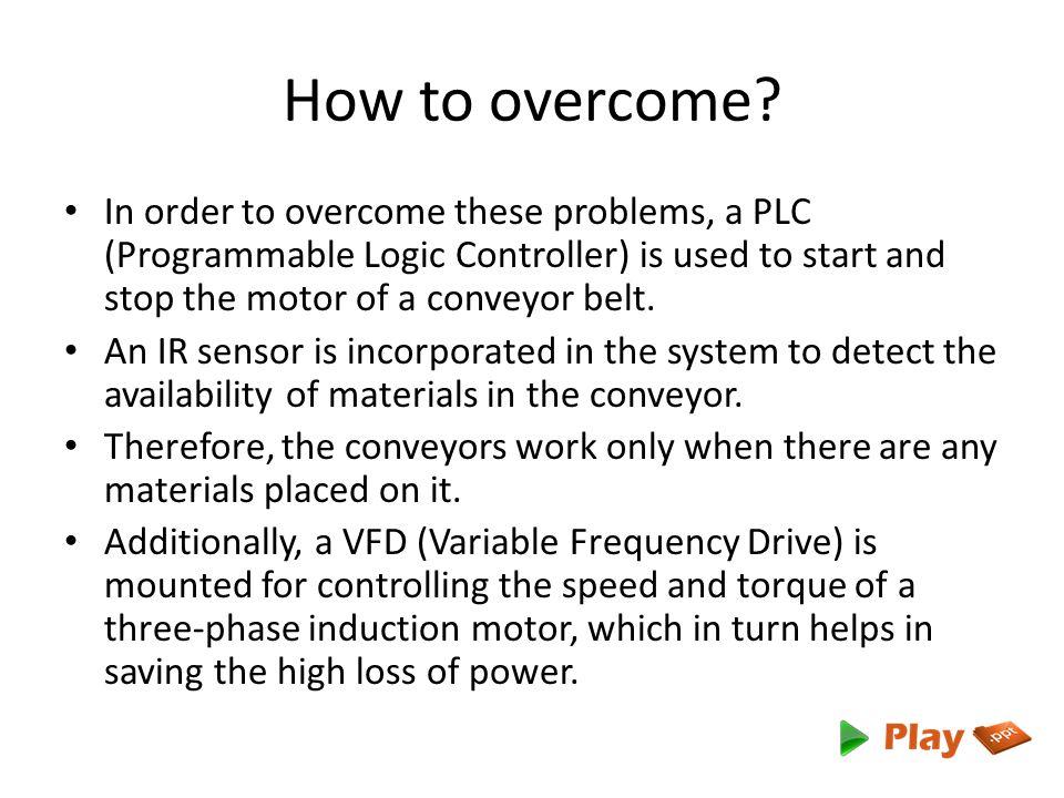 Conveyor Control Using Plc Vfd And Sensor Ppt Video