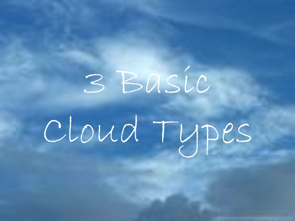 3 Basic Cloud Types