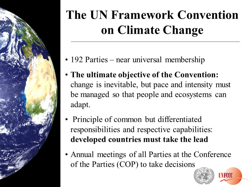 The UN Framework Convention on Climate Change