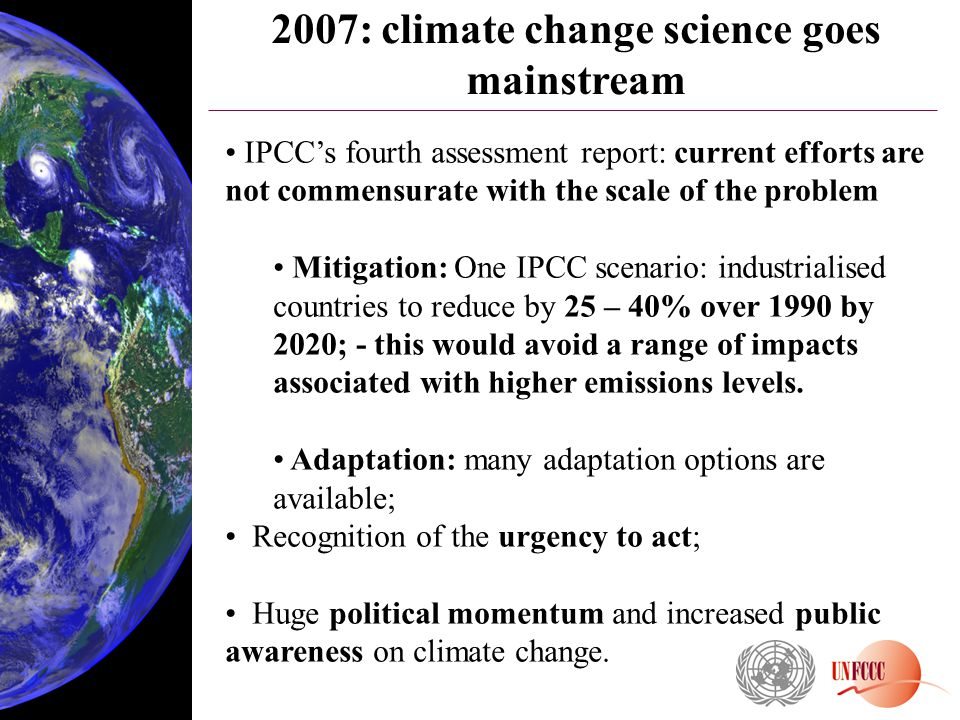 2007: climate change science goes mainstream