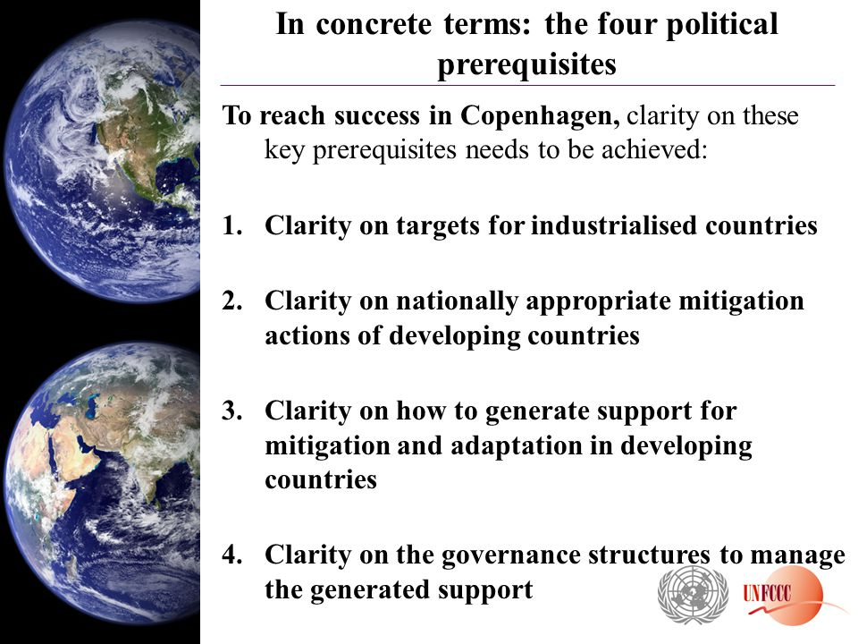 In concrete terms: the four political prerequisites
