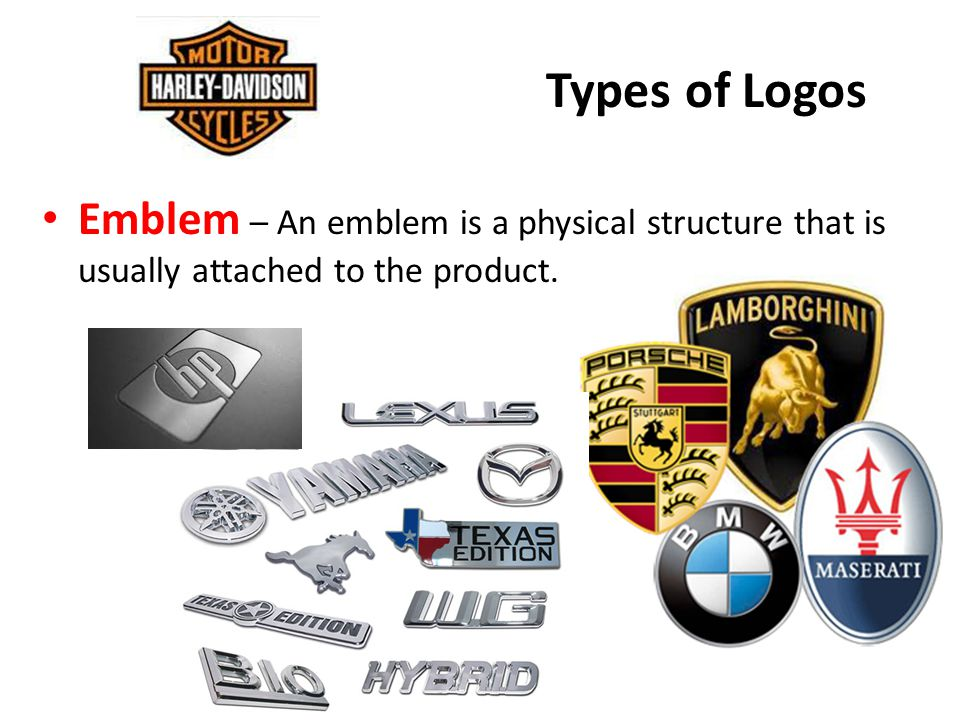 Types of Logos Emblem – An emblem is a physical structure that is usually attached to the product.