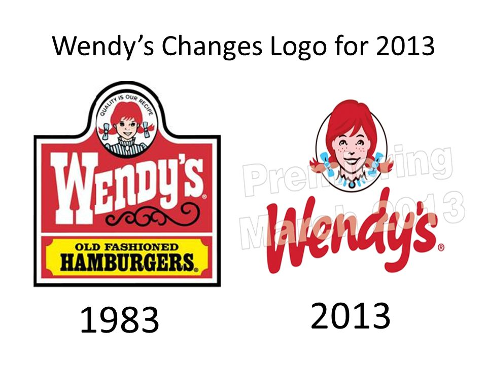Wendy's Changes Logo for 2013