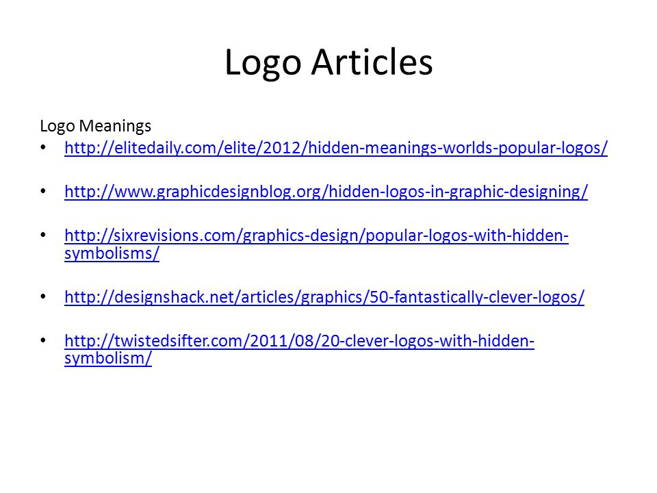 Logo Articles Logo Meanings