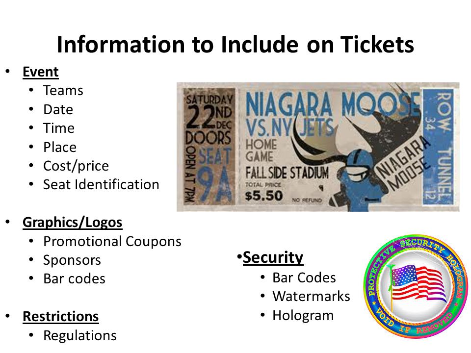 Information to Include on Tickets