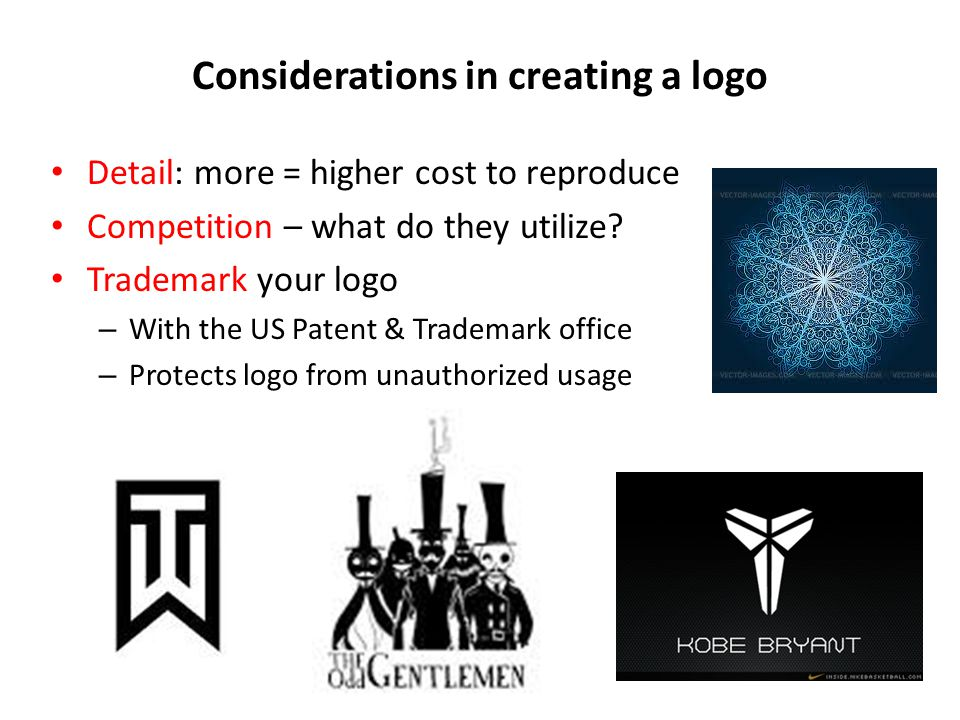 Considerations in creating a logo