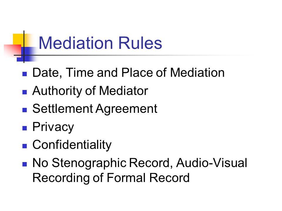 Mediation Its Practice Procedure Ppt Download