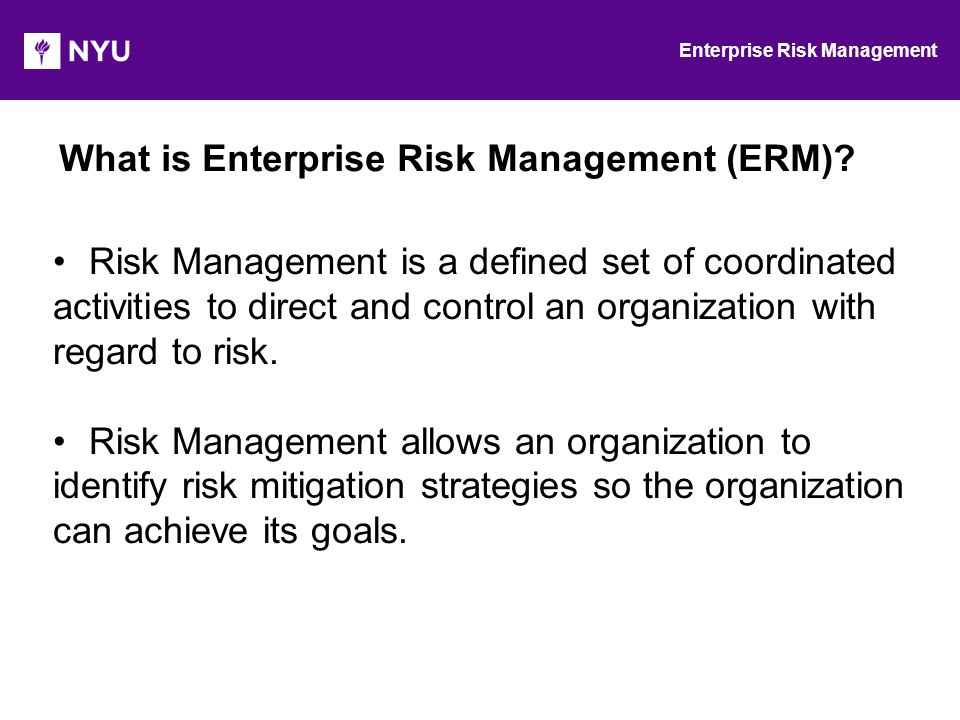Enterprise Risk Management: - ppt video online download
