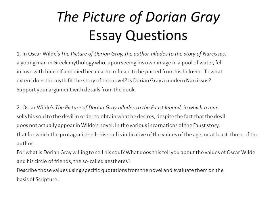 Dorian gray essays