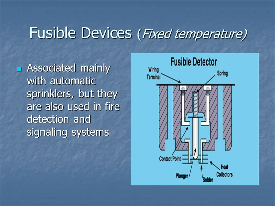 Fusible Devices (Fixed temperature)