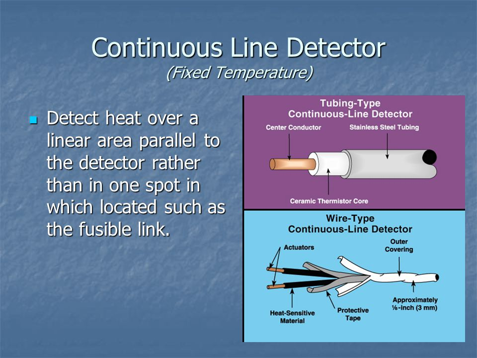 Continuous Line Detector (Fixed Temperature)