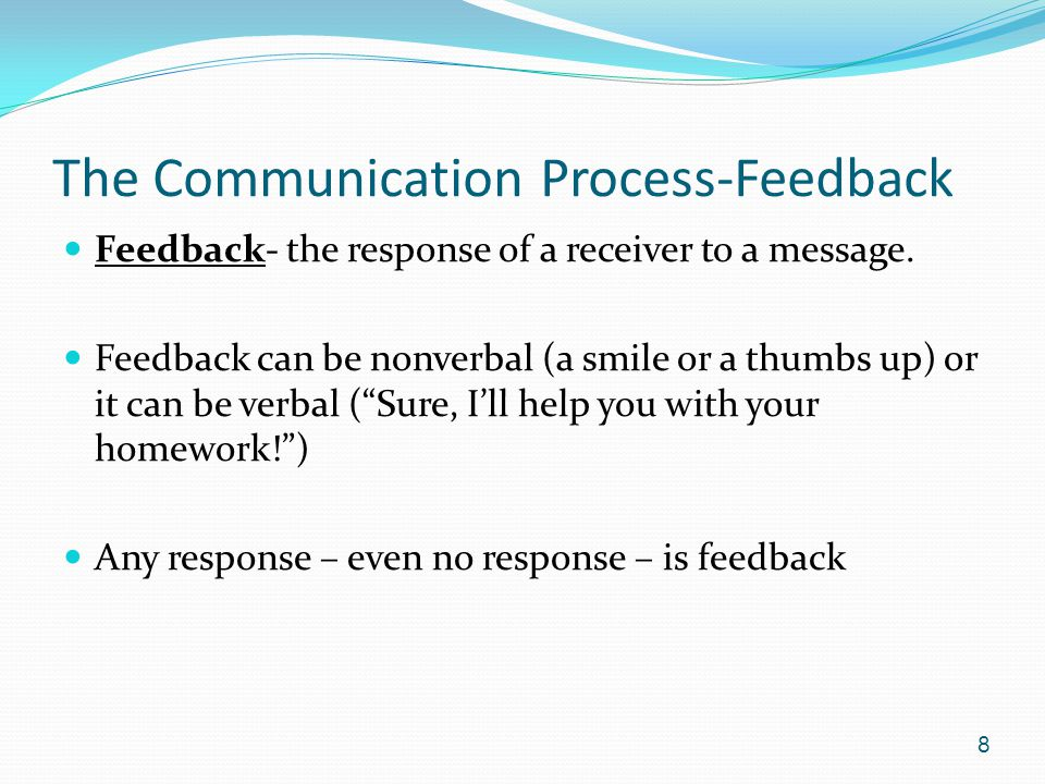The Communication Process-Feedback