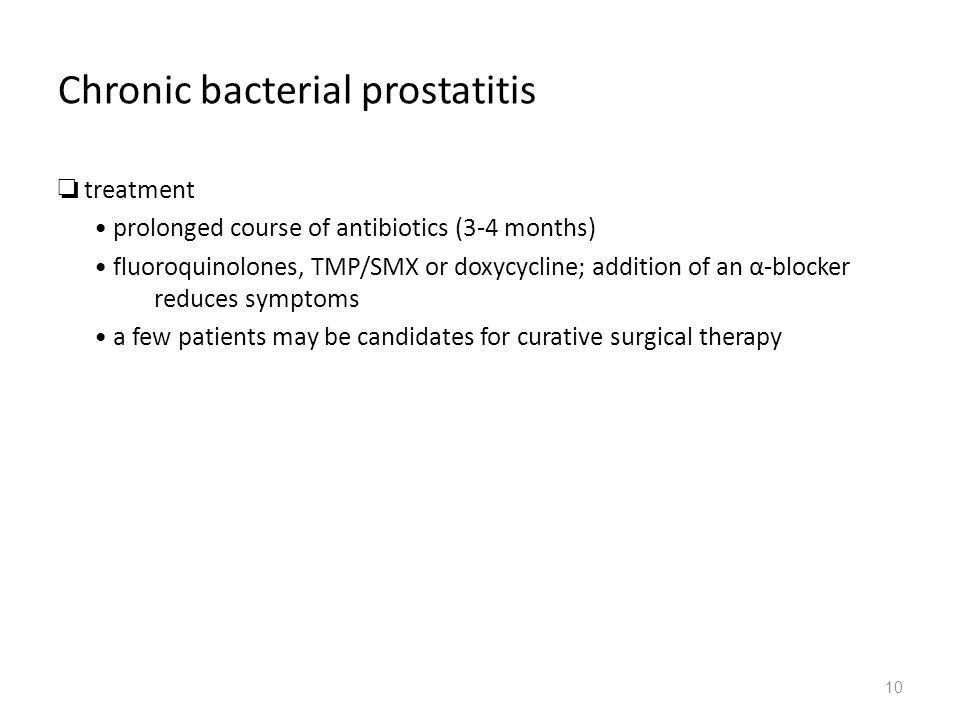 Prostatitis Tavannaya 10 nap