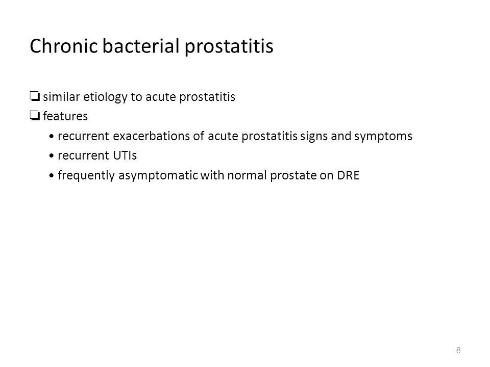 Exacerbations a prostatitis