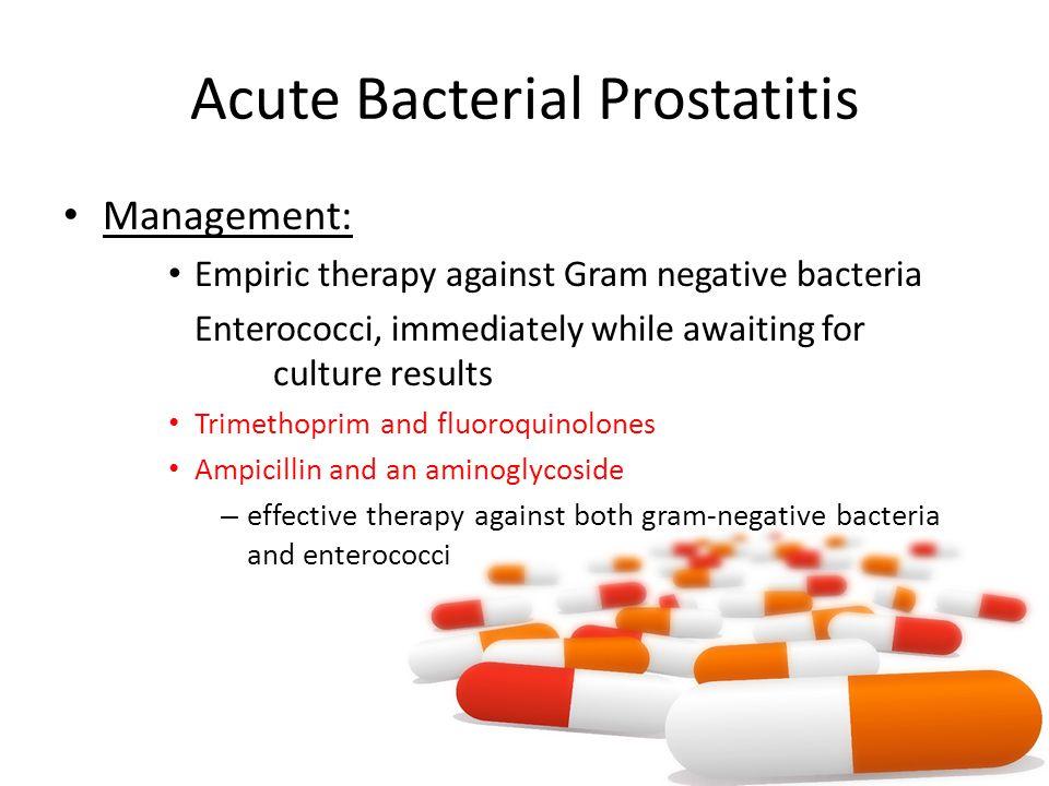 prostatitis medical management