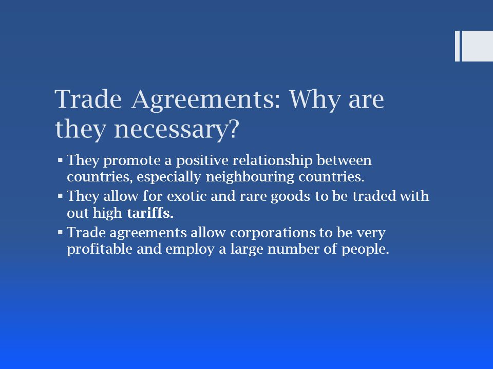 Free Trade Agreements Benefits And Consequences Ppt Video Online