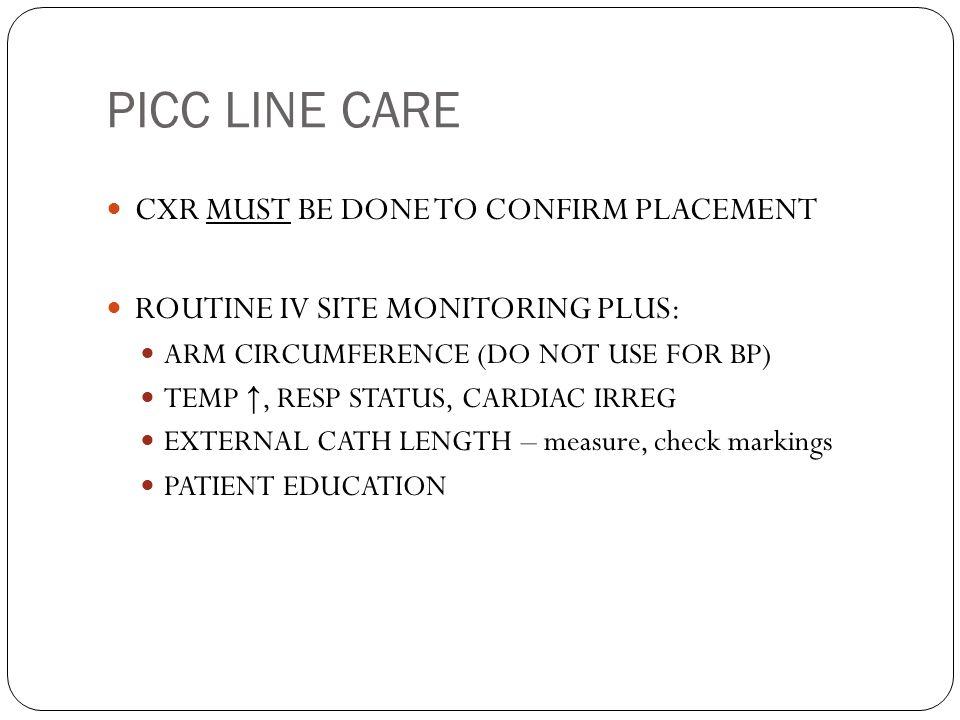 17 picc line care