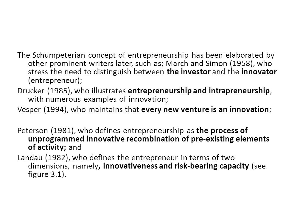 4 the schumpeterian concept of entrepreneurship