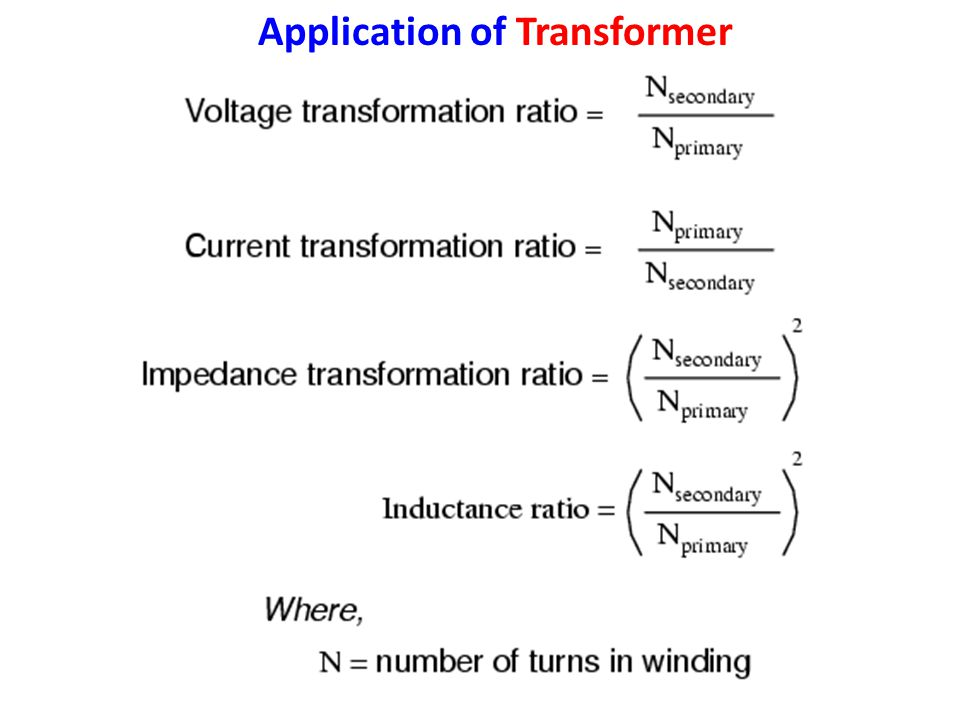 Application of Transformer