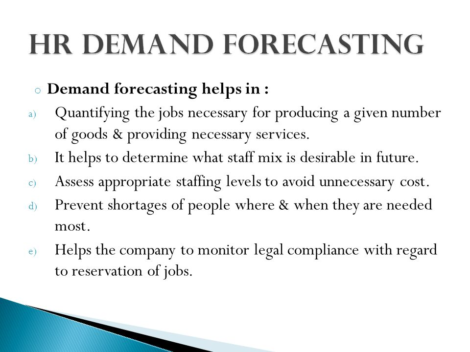 Demand forecasting in human resource planning ppt
