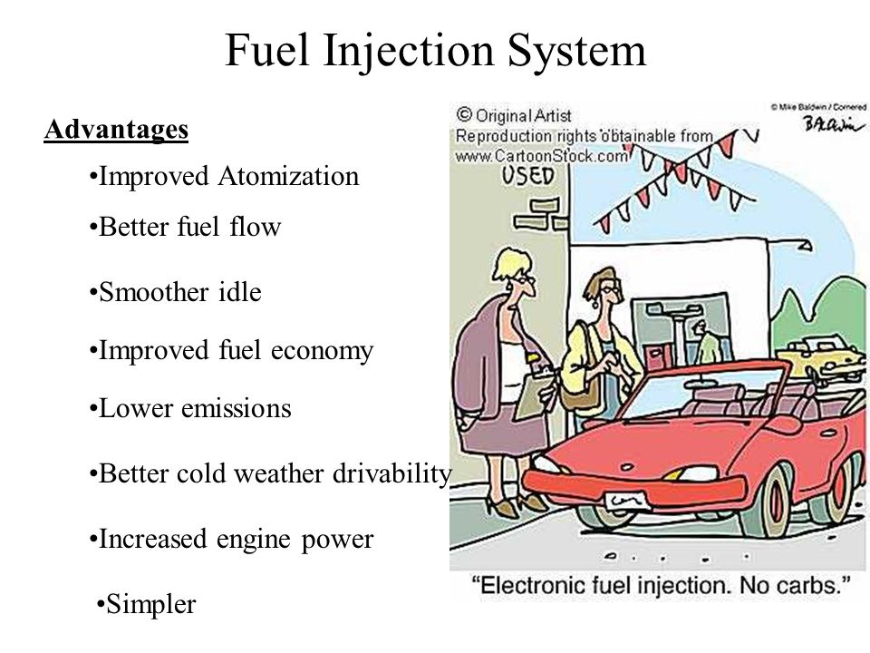 Fuel Injection System Advantages Improved Atomization Better fuel flow