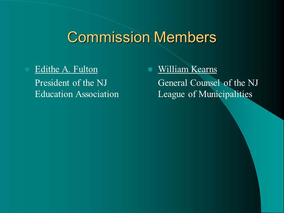 Commission Members Edithe A. Fulton