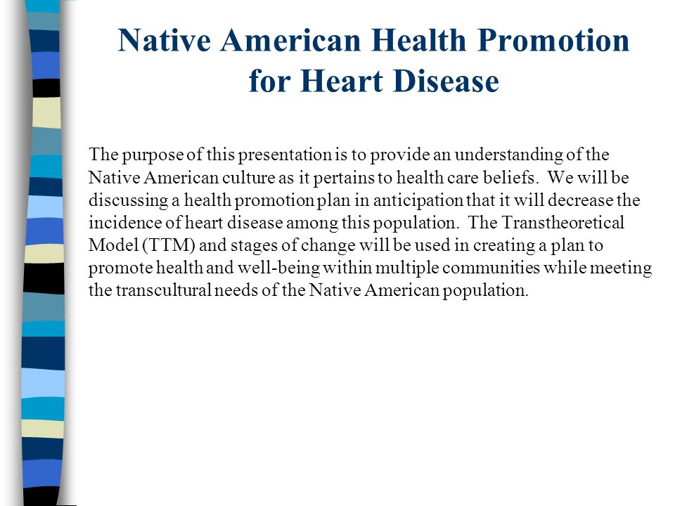Native American Health Promotion For Heart Disease Ppt Download