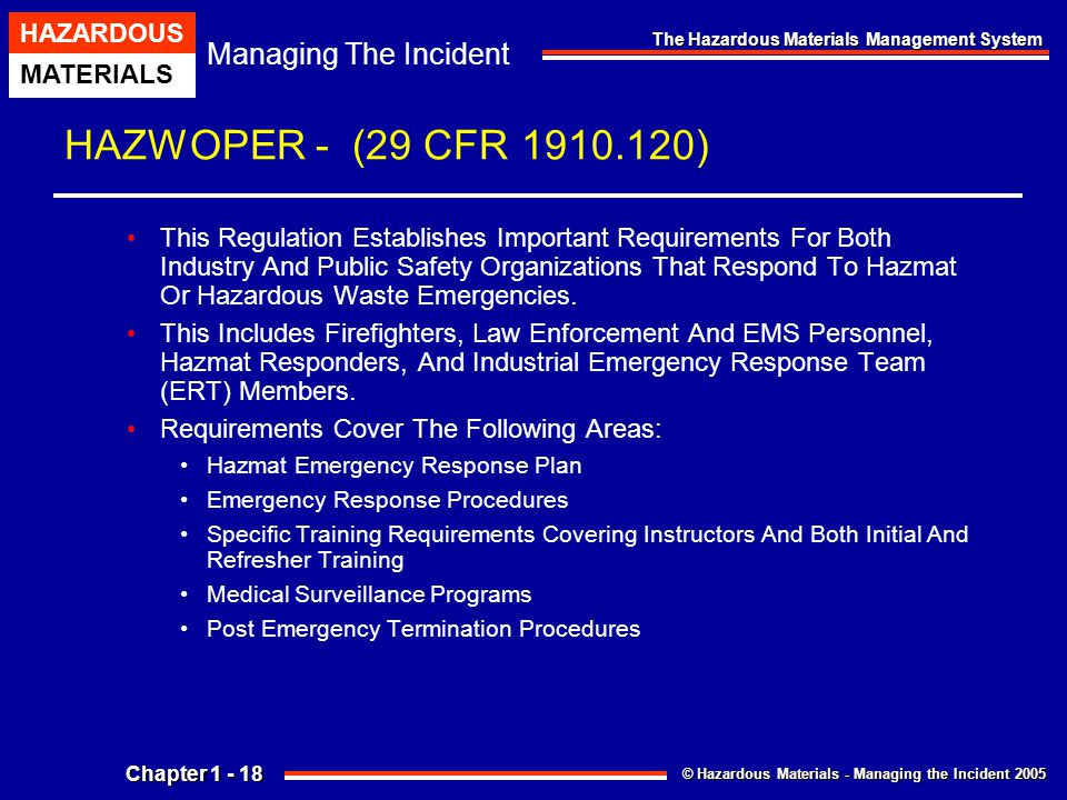 Chapter 1 The Hazardous Materials Management System Ppt Download