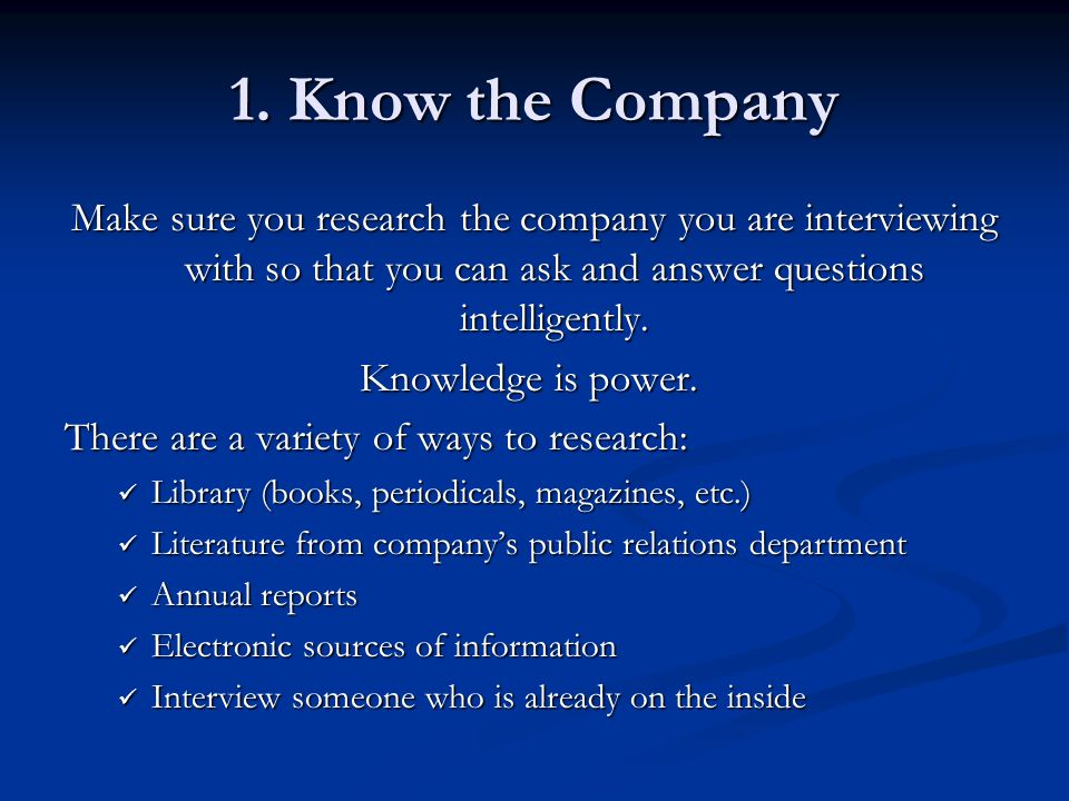 how to make a company better question answer
