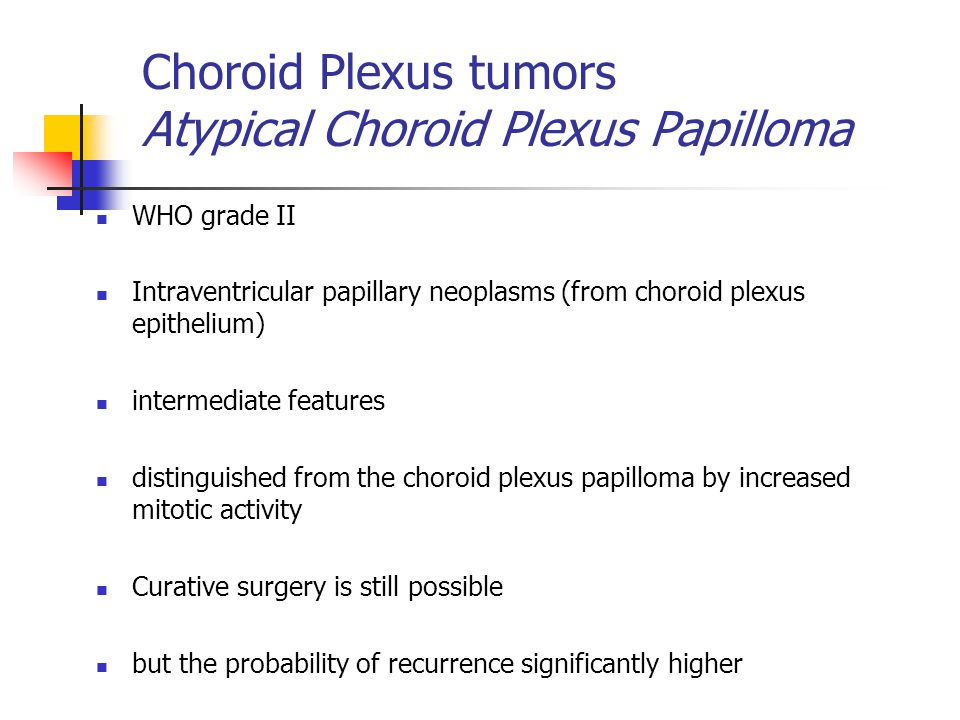 atypical choroid plexus papilloma icd 10