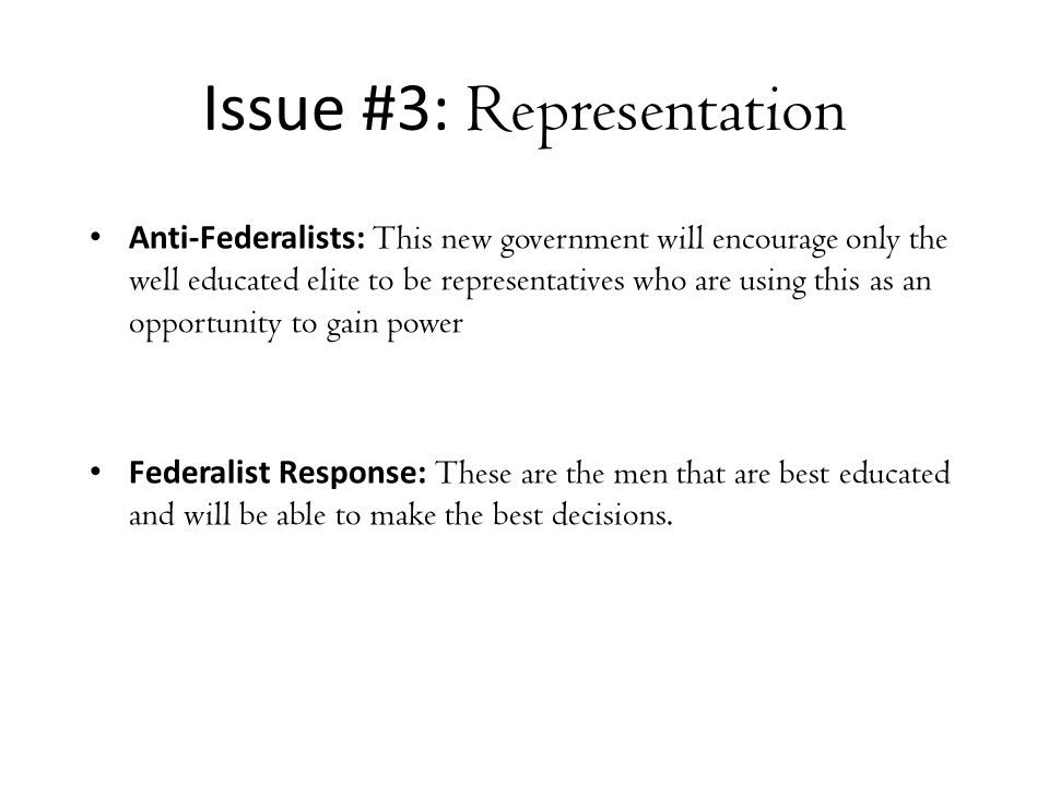 today s lesson recount of federalist vs anti federalist arguments