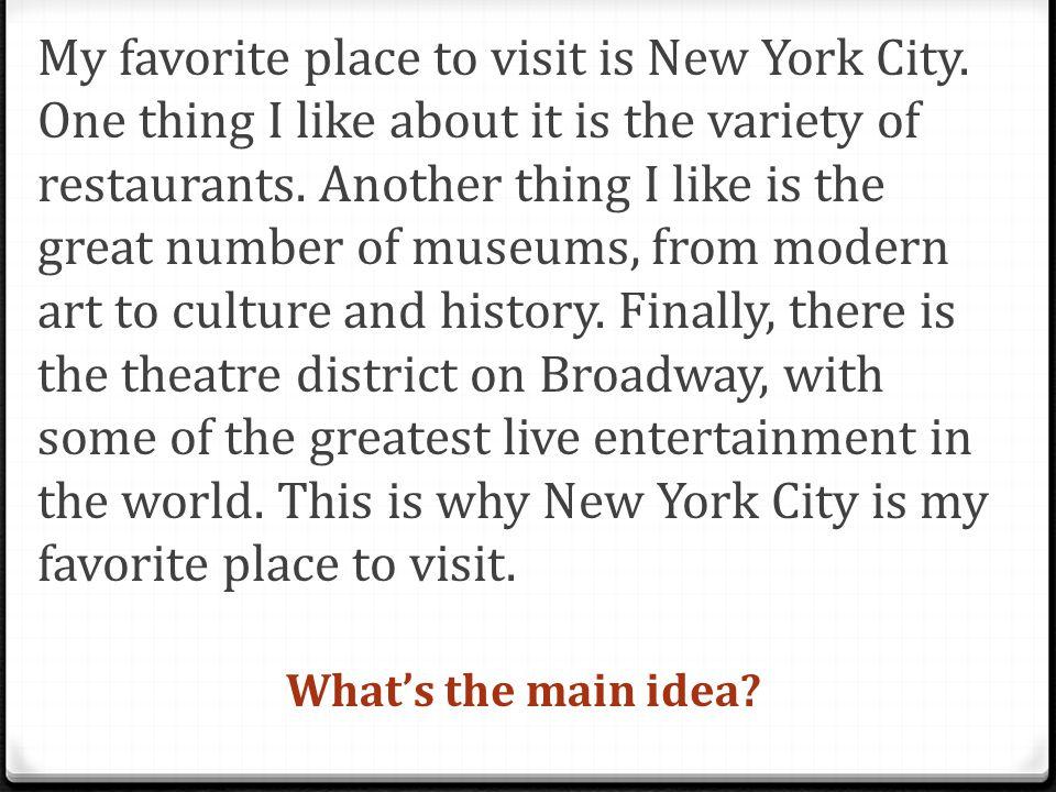my favorite place paragraph