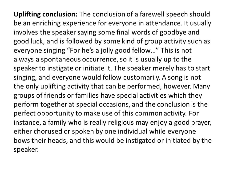 best farewell speech for seniors