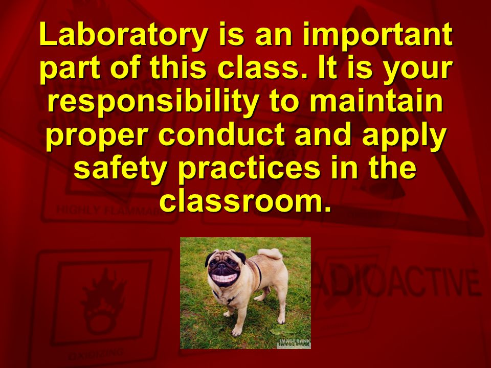 Laboratory is an important part of this class