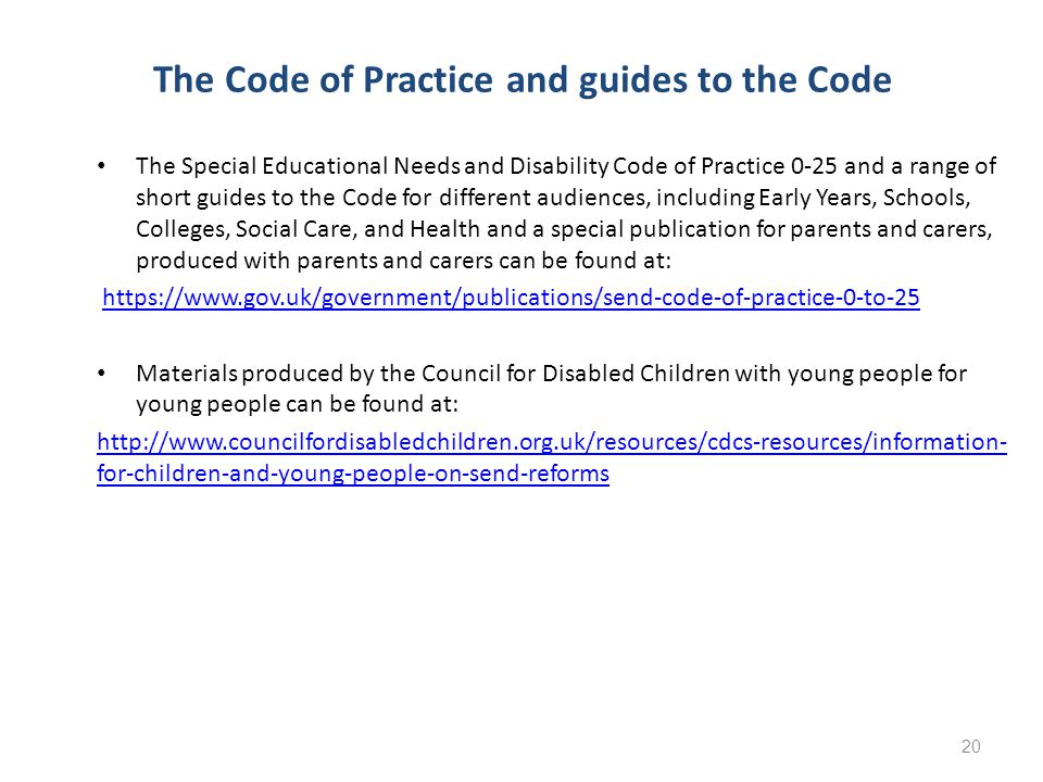 The Code of Practice and guides to the Code