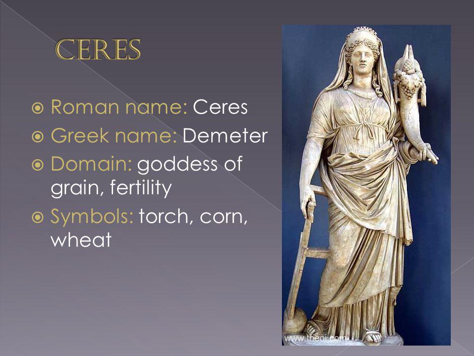 Kuvahaun tulos haulle ancient roman god Ceres