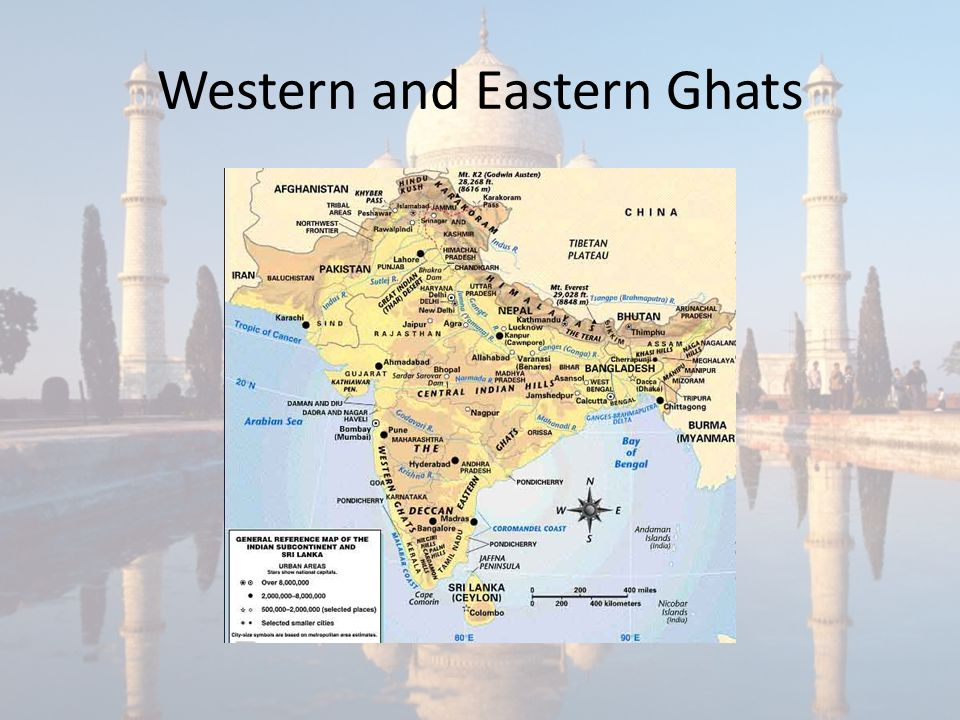 Western and Eastern Ghats